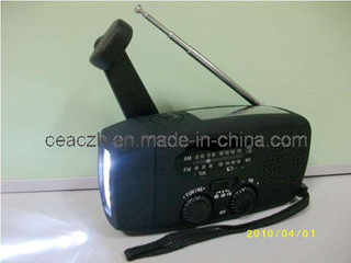 Solar Radio with Mobile Phone Charger and LED Torch